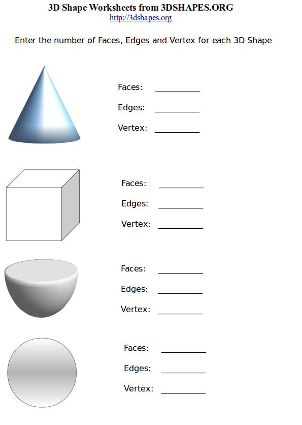 3d shape worksheets 1 faces edges vertices 3d shapes org